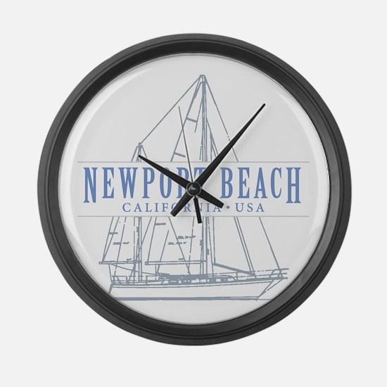 Newport Beach - Large Wall Clock