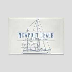 Newport Beach - Rectangle Magnet