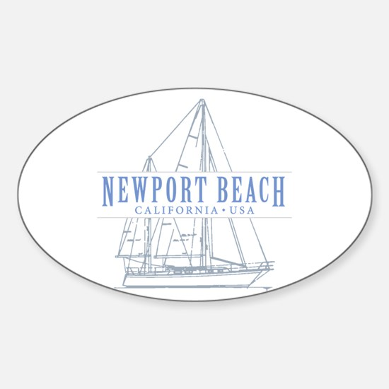 Newport Beach - Sticker (Oval)