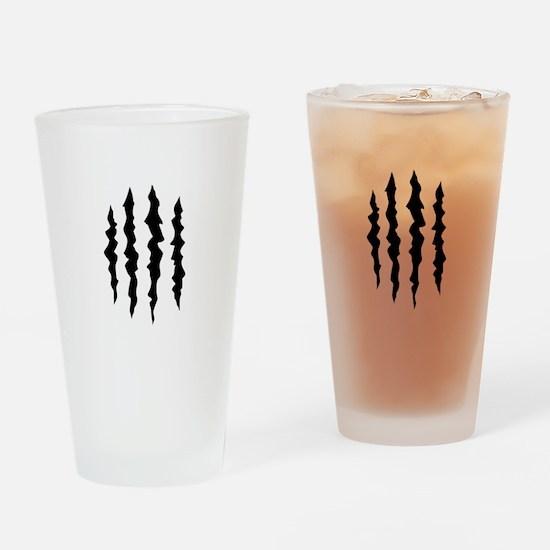 PUFFY FOAM CLAW MARKS Drinking Glass