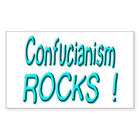 Confucianism Rocks ! Rectangle Sticker