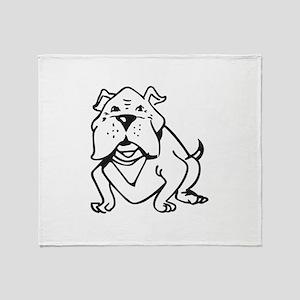 LG BULLDOG OUTLINE Throw Blanket
