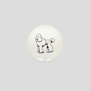 LG POODLE OUTLINE Mini Button