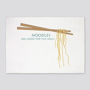 Noodles Are Good For The Slow! 5'x7'Area Rug