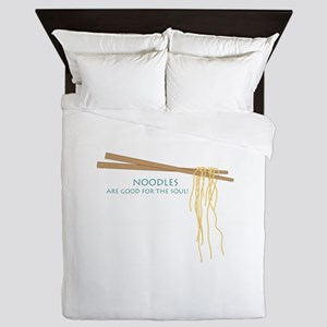 Noodles Are Good For The Slow! Queen Duvet