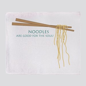 Noodles Are Good For The Slow! Throw Blanket