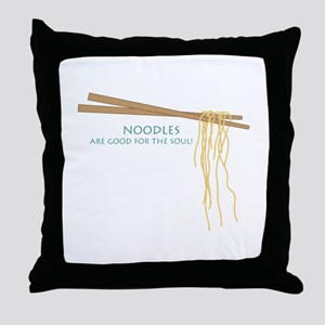 Noodles Are Good For The Slow! Throw Pillow