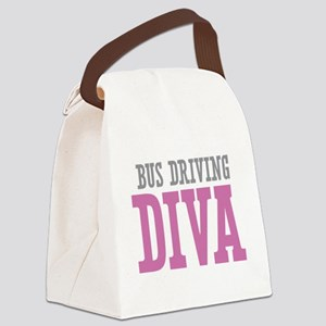 Bus Driving DIVA Canvas Lunch Bag
