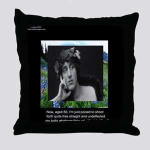 Virginia Woolf On Aging Throw Pillow
