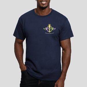 Laissez De Lis Men's Fitted T-Shirt (dark)