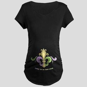Laissez De Lis Maternity Dark T-Shirt