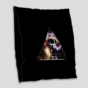 All Seeing All Knowing Burlap Throw Pillow