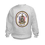 USS JOHN PAUL JONES Kids Sweatshirt