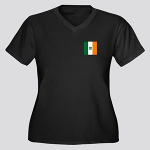 Team Ireland Women's Plus Size V-Neck Dark T-Shirt