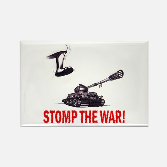 Stomp The War! Rectangle Magnet