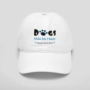 Dogs Make Me Happy 2 Baseball Cap