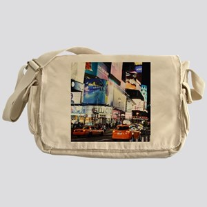 NYC at Night Messenger Bag