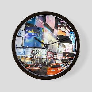 NYC at Night Wall Clock