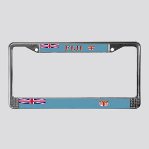 Fiji Fijian Blank Flag License Plate Frame