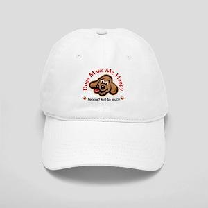 ed90a336881 Dogs Make Me Happy 3 Baseball Cap