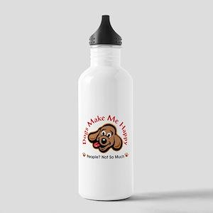 Dogs Make Me Happy 3 Water Bottle