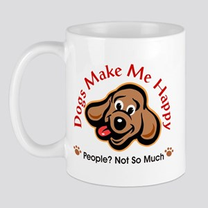 Dogs Make Me Happy 3 Mugs