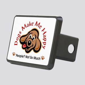 Dogs Make Me Happy 3 Rectangular Hitch Cover