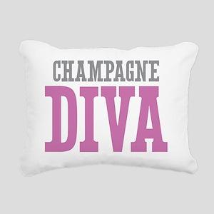 Champagne DIVA Rectangular Canvas Pillow