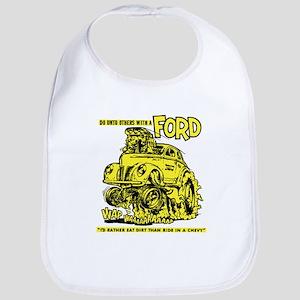 Eat Dirt vintage hot rod custom car Bib