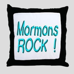 Mormons Rock ! Throw Pillow