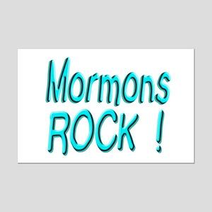 Mormons Rock ! Mini Poster Print