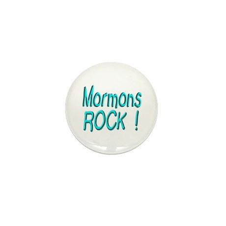 Mormons Rock ! Mini Button