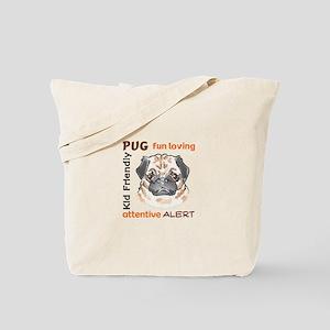 PUG DOG TRAITS Tote Bag