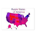 Purple States Postcards (Package of 8)