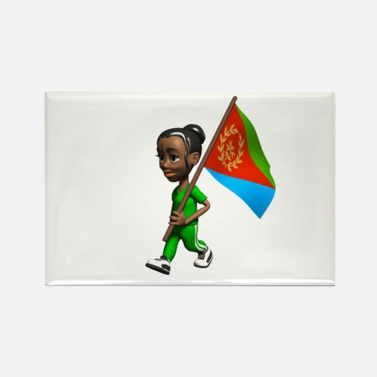 Eritrea Girl Rectangle Magnet