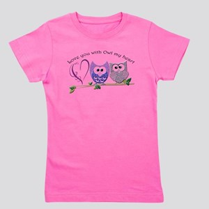 Love you with Owl my heart Girl's Tee