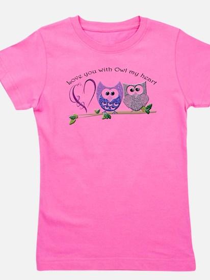 Love you with Owl my heart Girl's Tee