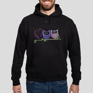 Love you with Owl my heart Hoodie (dark)