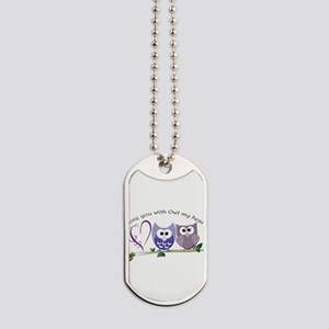Love you with Owl my heart Dog Tags