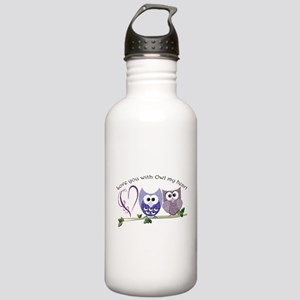 Love you with Owl my h Stainless Water Bottle 1.0L