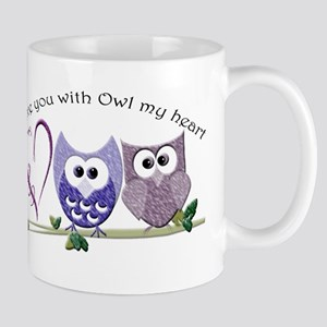 Love you with Owl my heart Mugs
