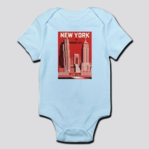 New york the wonder city red Body Suit