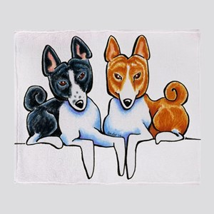 Basenji Buds Throw Blanket