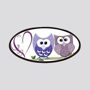 Love you with Owl my heart Patches