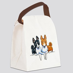 Basenji Buds Canvas Lunch Bag