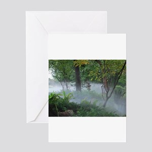 Asian Garden Fog Greeting Cards