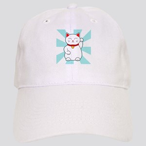 White Lucky Cat Baseball Cap