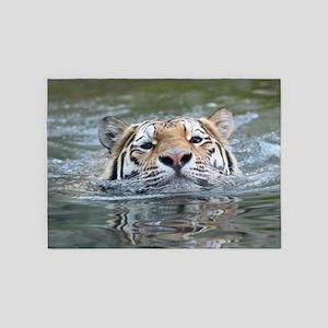 Tiger005 5'x7'Area Rug
