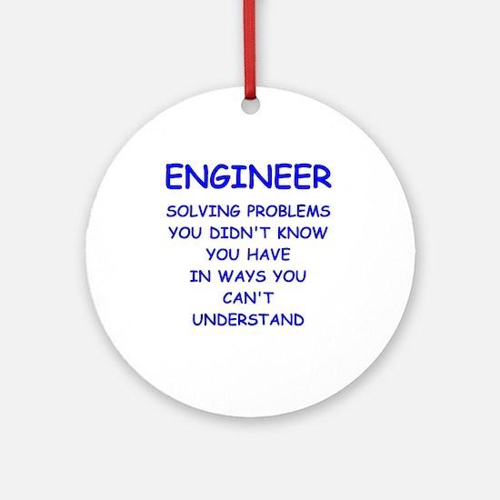 Engineer (round) Round Ornament