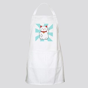 White Lucky Cat Apron